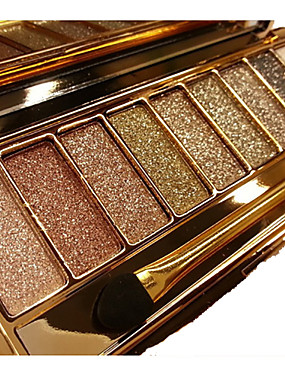 cheap Makeup For Eyes-12 Colors Eyeshadow Palette Powders Eye Matte Shimmer Mirror Single Open Lid Glitter Shine smoky Coloured gloss Long Lasting Natural Daily Makeup Halloween Makeup Party Makeup Cosmetic Gift