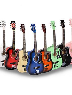 baratos Instrumentos Musicais-38 Inch Guitarra Madeira Colorido / para iniciante Guitarra Acessórios para Instrumentos Musicais