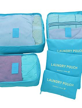 cheap Toys & Hobbies-6 sets Travel Bag / Travel Organizer /  Packing Organizer Large Capacity / Waterproof / Ultra Light (UL) Non-woven Fabrics Travel drawstring with window travel shoe storage bags