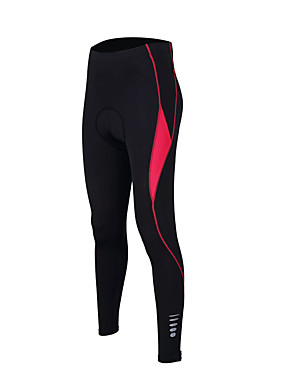 cheap Sports & Outdoors-TASDAN Women's Cycling Tights Bike Pants / Trousers Tights Padded Shorts / Chamois Breathable 3D Pad Quick Dry Sports Solid Color Silicon Winter Purple / Red / Blue Road Bike Cycling Clothing Apparel