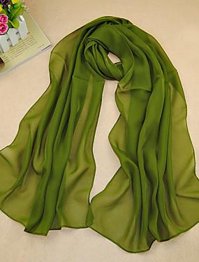 preiswerte Damenbekleidung-Damen Grundlegend, Chiffon Rechteckiger Schal Solide / Rot / Blau / Lila