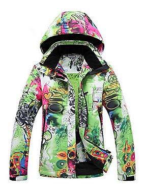 abordables Deportes y Ocio-GQY® Mujer Chaqueta de Esquí Esquí Deportes de Invierno Mantiene abrigado Resistente al Viento Listo para vestir Poliéster Chaqueta de Invierno Ropa de Esquí