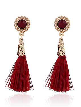 preiswerte EmmaReay-Damen Blume Quaste Retro Europäisch Modisch Perlen vergoldet Ohrringe Schmuck Rot Für Party Alltag Normal