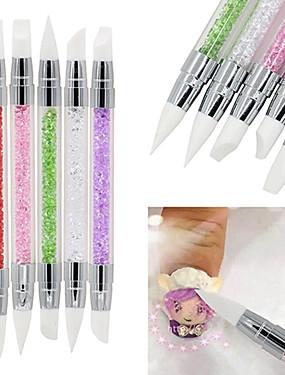 levne Štětečky na nehty-5pcs Kartáče na nehty Pro Zábavné nail art manikúra pedikúra Klasické / Cute Style Denní