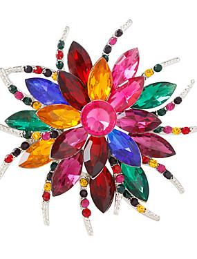 povoljno Trgovina vjenčanja-Žene Kristal Broševi Cvijet Personalized Moda Šarene Broš Jewelry White / White Izabrane Boja Silver / Gray Za Party Dnevno