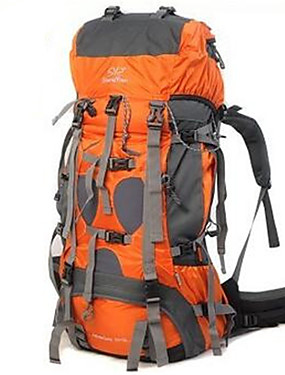 cheap Sports & Outdoors-Sheng yuan 70+5 L Hiking Backpack Rucksack Multifunctional Waterproof Rain Waterproof Heat Insulation Outdoor Camping / Hiking Climbing Traveling PU Leather Terylene Nylon Orange Army Green Blue