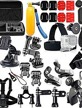 cheap Sports & Outdoors-Accessory Kit For Gopro Floating Hand Grip Waterproof Adjustable Anti-Shock 44 pcs For Action Camera Gopro 2 Gopro 3+ Diving Surfing Ski / Snowboard EVA ABS