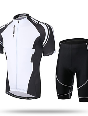 cheap Sports & Outdoors-XINTOWN Men's Short Sleeve Cycling Jersey with Shorts Black Green Purple Novelty Bike Shorts Pants / Trousers Jersey Breathable 3D Pad Quick Dry Ultraviolet Resistant Reflective Strips Sports Spandex