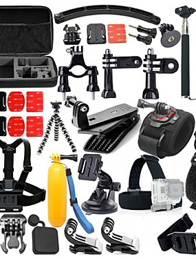 cheap Sports & Outdoors-Accessory Kit For Gopro Floating Hand Grip Waterproof 46 in 1 Adjustable 46 pcs For Action Camera Gopro 5 Xiaomi Camera Gopro 4 Gopro 4 Silver Gopro 4 Session Diving Surfing Ski / Snowboard / Gopro 3