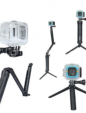cheap Sports & Outdoors-Waterproof Housing Case Monopod Tripod For Action Camera Polaroid Cube Diving Surfing Universal Polycarbonate