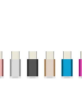 preiswerte COLORFUL-aluminium farbenfrohes usb 3.1 micro usb zu typ c adapter ladegerät ladedaten synchronisieren für typ c smartphone