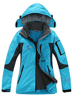 cheap Sports & Outdoors-Women's Hiking Jacket Winter Outdoor Thermal / Warm Waterproof Windproof Breathable Fleece Softshell Jacket Top Skiing Camping / Hiking Hunting Fuchsia Yellow Red S M L XL XXL / Quick Dry / Quick Dry
