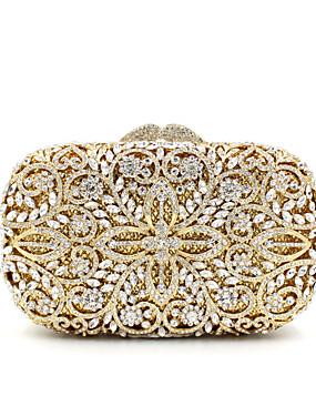 preiswerte Biszu19-Damen Crystal / Strass Metal Abendtasche Strass Kristall Abendtaschen Blumenmuster Gold