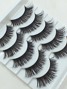 cheap Discount Makeup-Makeup Tools False Eyelashes 10 pcs Volumized Extra Long Fiber Daily Full Strip Lashes Crisscross - Makeup Daily Makeup Cosmetic Grooming Supplies
