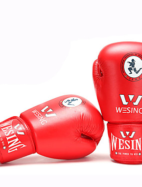 cheap Sports & Outdoors-Boxing Bag Gloves / Pro Boxing Gloves / Boxing Training Gloves For Mixed Martial Arts (MMA), Muay Thai Full Finger Gloves Protective Synthetic Leather Unisex - Red / Blue WESING® / Winter
