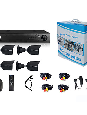 preiswerte JOOAN-jooan® Sicherheitssystem 4 x 720p wetterfeste tvi Kamera und 1080n 8ch dvr Recorder Unterstützung ahd / tvi / cvi / cvbs