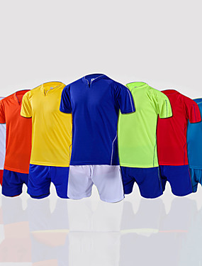 cheap Team Sports-Men's Soccer Shirt+Shorts Bottoms Clothing Suit Breathable Football / Soccer Classic 100% Polyester Red Green Blue / Stretchy