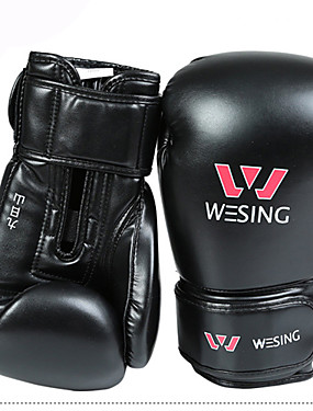 cheap Sports & Outdoors-Boxing Bag Gloves / Pro Boxing Gloves / Boxing Training Gloves For Mixed Martial Arts (MMA) Full Finger Gloves Protective Synthetic Leather Unisex - Black / Red / Winter