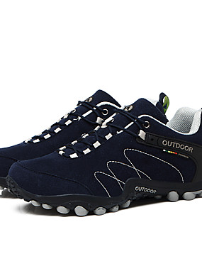 cheap Sports & Outdoors-LEIBINDI Men's Sneakers Hiking Shoes Lightweight Breathable Anti-Slip Anti-Shake / Damping Low-Top Running Hiking Climbing Spring Summer Fall Black Navy Blue Gray