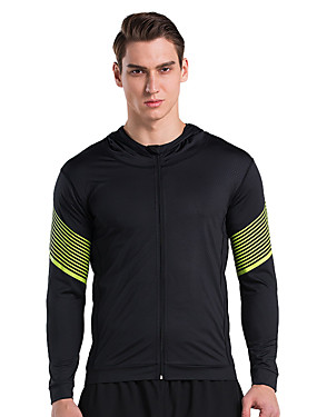 cheap Sports & Outdoors-Vansydical® Men's Running T-Shirt Long Sleeve 1 pc Quick Dry Exercise & Fitness Sportswear Top Activewear High Elasticity