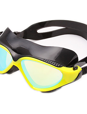 cheap Sports & Outdoors-Swimming Goggles Waterproof Anti-Fog Adjustable Size Scratch-resistant Shatter-proof Anti-slip Strap For Adults' Silica Gel PC Yellows Blacks Blues White Light Yellow Light Gold