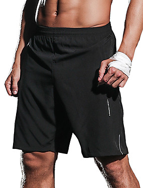 cheap Sports & Outdoors-Men's Running Shorts Athletic 1pc Bottoms Elastane Sport Gym Workout Running Exercise & Fitness Breathable Quick Dry Moisture Permeability Black Blue Dark Blue Classic Fashion / Stretchy