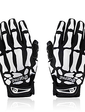 cheap Sports & Outdoors-QEPAE Winter Bike Gloves / Cycling Gloves Mountain Bike MTB Breathable Anti-Slip Sweat-wicking Protective Full Finger Gloves Sports Gloves Lycra Black / White Skull for Adults' Outdoor