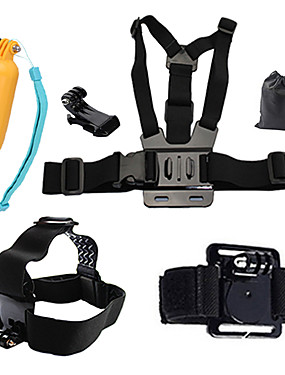 cheap Sports & Outdoors-Chest Harness Front Mounting Floating Buoy All in One 1 pcs For Action Camera Gopro 6 All Gopro Xiaomi Camera Gopro 4 Black SJCAM Diving Surfing Ski / Snowboard PVC(PolyVinyl Chloride) Cotton ABS