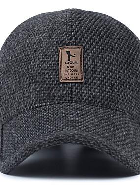 levne Týmové sporty-Muž středního věku vlněná klobouk zimní venkovní ušní baseballové čepice