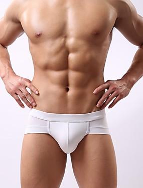cheap Men's Underwear & Socks-Men's Super Sexy Briefs Underwear Solid Colored 1 Piece Black White Purple L XL XXL