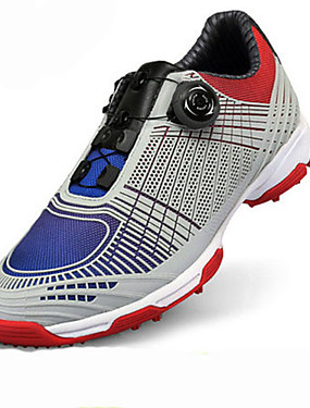 cheap Golf, Badminton & Table Tennis-Men's Golf Shoes Breathable Anti-Slip Anti-Shake / Damping Cushioning Low-Top Leisure Sports Spring Summer Fall Red Blue