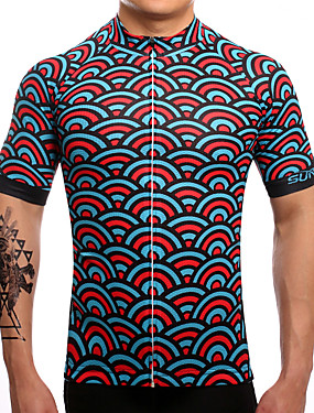 cheap Sports & Outdoors-SUREA Men's Short Sleeve Cycling Jersey Coolmax® Lycra Mermaid Scales Bike Jersey Top Mountain Bike MTB Road Bike Cycling Breathable Quick Dry Sweat-wicking Sports Clothing Apparel / High Elasticity