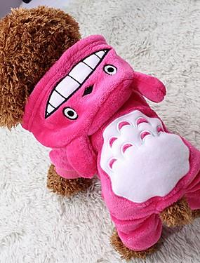 cheap Toys & Hobbies-Cat Dog Coat Hoodie Jumpsuit Winter Dog Clothes Brown Rose Gray Costume Polar Fleece Animal Keep Warm Halloween XS S M L XL XXL
