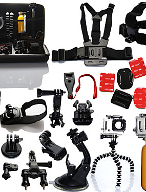 cheap Sports & Outdoors-qqt for floating grip accessories kit for gopro hero 5 chest head wrist mount strap hand bobber for go pro sjcam sj4000 action camera 5