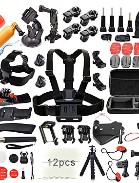 cheap Sports & Outdoors-Accessory Kit For Gopro Outdoor Water Resistant 50 pcs For Action Camera Gopro 6 All Gopro Gopro 5 Xiaomi Camera Gopro 4 Ski / Snowboard Universal Camping / Hiking / Caving / Sports DV / SJCAM