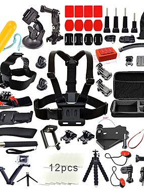 cheap Sports & Outdoors-Accessory Kit For Gopro 67 in 1 Outdoor Multi-function For Action Camera Gopro 6 All Gopro Gopro 5 Xiaomi Camera Gopro 4 Ski / Snowboard Leisure Sports Universal Canvas ABS / Gopro 4 Session / SJCAM