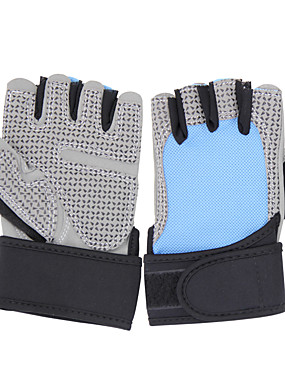cheap Sports & Outdoors-Climbing Gloves Sports Gloves for Climbing Exercise & Fitness Bike / Cycling Anti-Friction Silicon Rubber Braided Fabric Elastane 1 Pair Dailywear Sports Motorcycle Black Sky Blue Pink