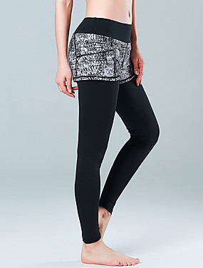 cheap Sports & Outdoors-CONNY Women's Tights Bottoms Quick Dry Elastane Yoga Running Pilates Sports Activewear Stretchy