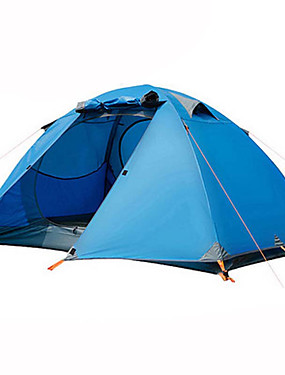 cheap Sports & Outdoors-BSwolf 2 person Backpacking Tent Outdoor Waterproof Rain Waterproof Dust Proof Double Layered Camping Tent 2000-3000 mm for Camping / Hiking Terylene Aluminium