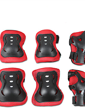 cheap Sports & Outdoors-Protective Gear / Knee Pads + Elbow Pads + Wrist Pads for Ice Skating / Skateboarding / Inline Skates Scratch Proof / Anti-Friction / Shockproof 6 pack Outdoor clothing PVC(PolyVinyl Chloride)