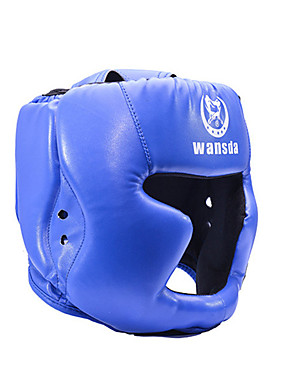 cheap Sports & Outdoors-Boxing Helmet Helmet PU Leather Shock Resistant Breathable Adjustable Fit Protective Taekwondo Boxing Exercise & Fitness For Men's