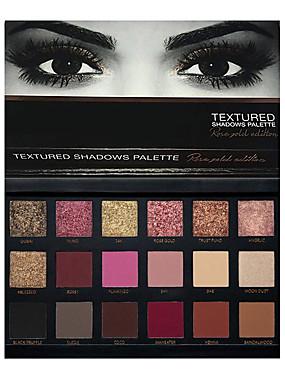 preiswerte Kosmetik für Augen-18 Farben Lidschatten Puder EyeShadow Matt Schimmer Glänzender Schein rauchig Armaturen für Waschbecken Glitter Lipgloss Lang anhaltend Alltag Make-up Kosmetikum Geschenk