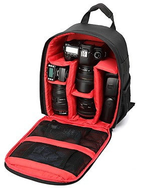 cheap Computer & Office Clearance-Multi-functional Camera Lens Backpack Video Digital DSLR Bag Waterproof Outdoor Camera Photo Bag Case for Nikon Canon DSLR