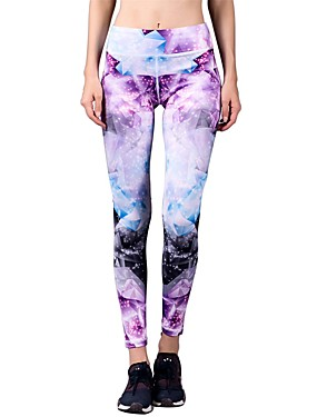 cheap Sports & Outdoors-BARBOK Women's High Waist Yoga Pants Cropped Leggings Nylon Spandex Zumba Gym Workout Running Sports Activewear Stretchy