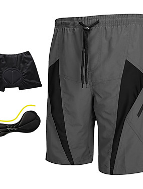 cheap Sports & Outdoors-SANTIC Men's Cycling MTB Shorts - Grey Bike Shorts Padded Shorts / Chamois MTB Shorts, Breathable 3D Pad Quick Dry Polyester Spandex / Advanced Sewing Techniques