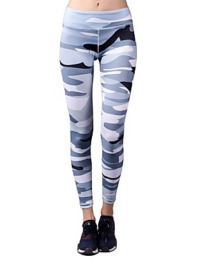 cheap Sports & Outdoors-BARBOK Women's Yoga Pants Cropped Leggings Nylon Spandex Zumba Gym Workout Running Sports Activewear Stretchy