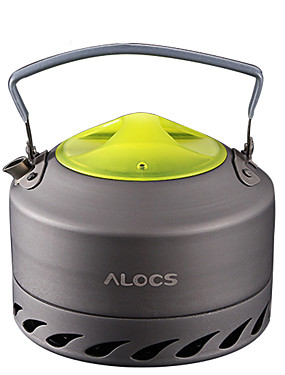 cheap Sports & Outdoors-ALOCS Camping Kettle Camping Coffee Pot Coffee and Tea Portable for Mineral Aluminum Outdoor Camping / Hiking Outdoor Picnic