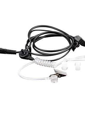 preiswerte Unterhaltungselektronik-baiston kqdg 3,5 mm + 2,5 mm Walkie-Talkie Akustikschlauch-Ohrhörer - schwarz + transparent