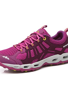 cheap Sports & Outdoors-LEIBINDI Women's Hiking Shoes Casual Shoes Mountaineer Shoes Lightweight Breathable Anti-Slip Stretchy Stylish Low-Top Running Hiking Mountaineering Autumn / Fall Summer Winter Purple Fuchsia
