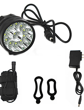 cheap Sports & Outdoors-ANOWL Bike Light 8000 lm LED LED 12 Emitters 3 Mode with Battery, Charger & Adapter Easy Carrying Cycling / Bike